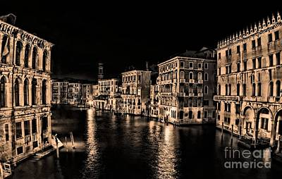 Photograph - Venice At Night by Matthew Naiden