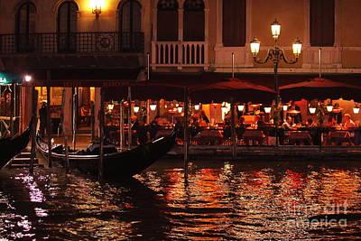 Photograph - Venice At Night by Theresa Ramos-DuVon