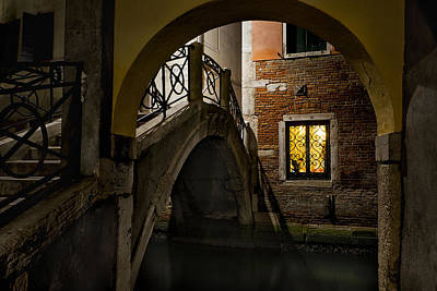 Photograph - Venice At Night1 by Marion Galt