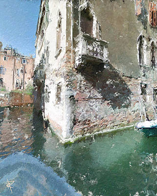 Mixed Media - Venice Balcony by Russell Pierce
