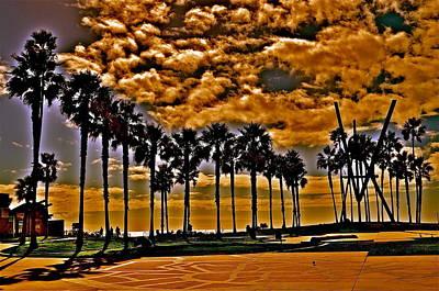 Venice Beach Palms Photograph - Venice Beach California by Joe  Burns