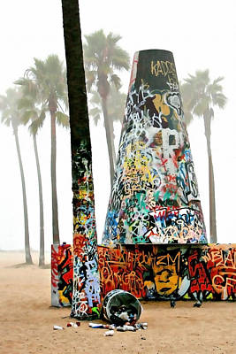 Paint Cans Photograph - Venice Beach Pit by Art Block Collections