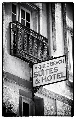 Photograph - Venice Beach Suites And Hotel by John Rizzuto