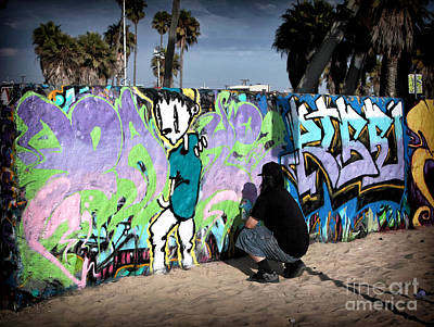 Photograph - Venice Beach Tagging by John Rizzuto
