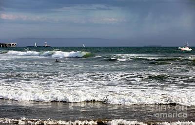 Venice Photograph - Venice Beach Waves I by John Rizzuto