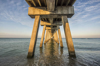 Venice Below The Pier Art Print by Jon Glaser