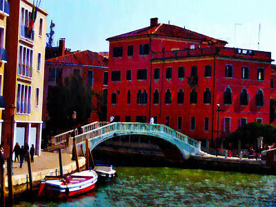 Venice Bow Bridge Art Print by Bill Cannon
