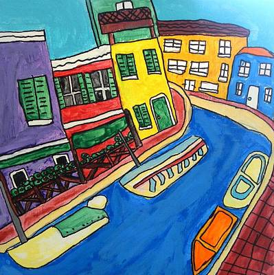 Autism Painting - Venice by Artists With Autism Inc