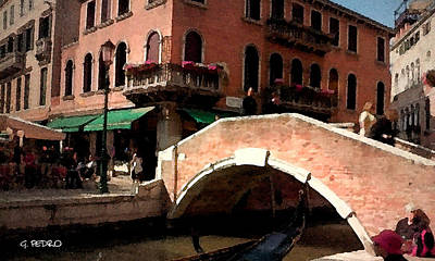 Painting - Venice Bridge by George Pedro