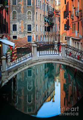 Venice Bridge Art Print by Inge Johnsson