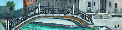 Venice Bridge Art Print by Rita Brown