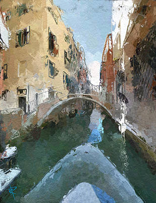 Mixed Media - Venice Bridge by Russell Pierce