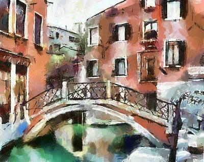 Venice Bridges 1 Art Print