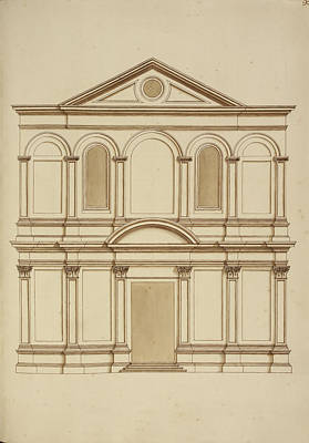 Venice Building Facade Print by British Library