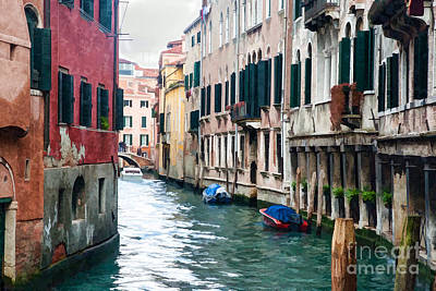 Transportation Digital Art - Venice roadway painted by Paul Quinn