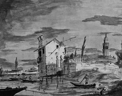 Steele Drawing - Venice  by Chris Steele