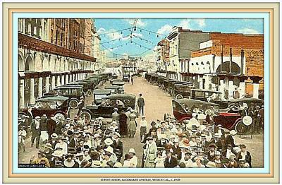 Mixed Media - Venice Ca Rally- 1920 by Dwight Goss