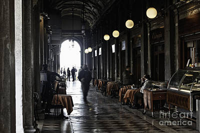 Quadri Photograph - Venice Cafe  by George Oze
