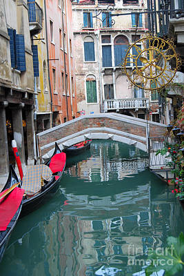 Digital Art - Venice Canal And Buildings by Eva Kaufman