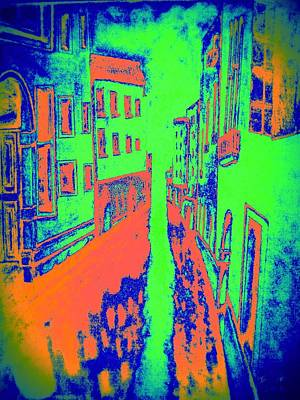 Royalty-Free and Rights-Managed Images - Venice Canal Blue by Irving Starr