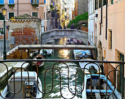 Photograph - Venice Canal Boats by Katie Wing Vigil