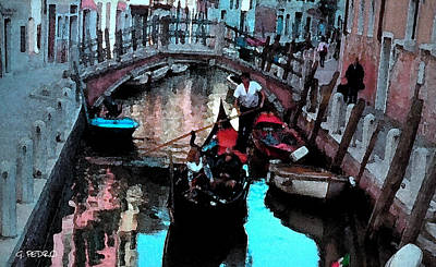 Painting - Venice Canal by George Pedro