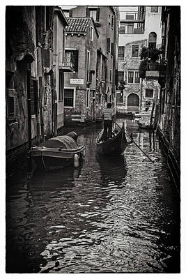 Tron Photograph - Venice Canal Memory by Madeline Ellis