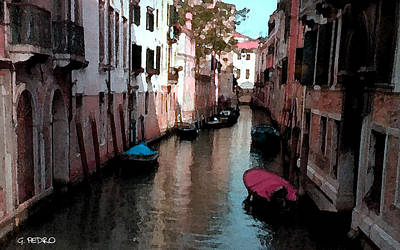 Painting - Venice Canal Number 2 by George Pedro