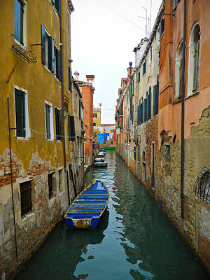 Boat Photograph - Venice Canal by Silvia Bruno