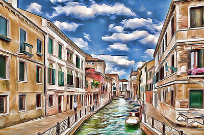 Sightseeing Digital Art - Venice Canal Today by Yury Malkov