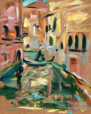 Venice Canal Art Print by Valerie Freeman