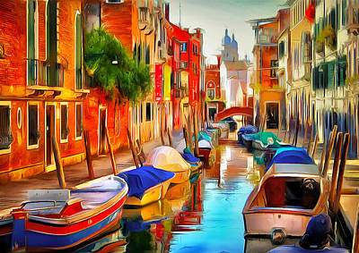 Venice Canals 20 Art Print by Yury Malkov