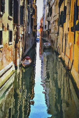 Venice Canals Watercolor 3 Art Print