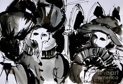 Painting - Venice Carnival 4 by Mona Edulesco