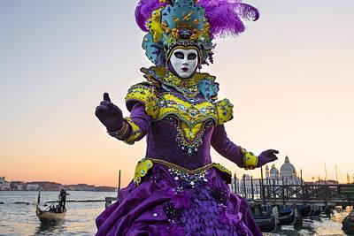 Venice Carnival Iv Print by Yuri Santin
