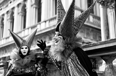 Photograph - Venice Carnival Jester by John Rizzuto