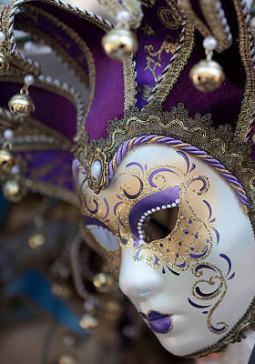 Photograph - Venice Carnival Mask by Paul Cowan