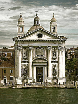 Venice City Of Churches Art Print