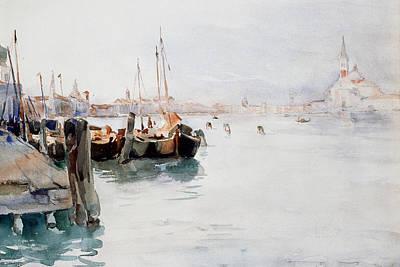 Harbor Drawing - Venice by Elizabeth Nourse