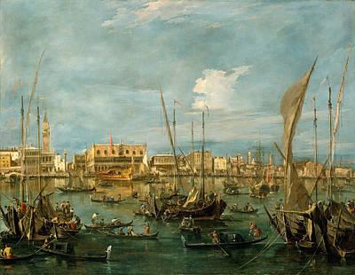 Francesco Guardi Painting - Venice From The Bacino Di San Marco by Francesco Guardi