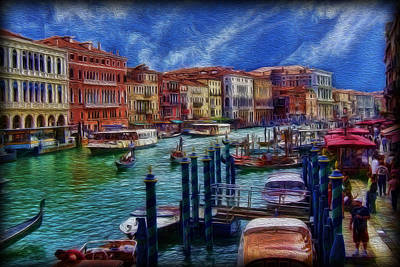 Photograph - Venice From The Rialto Bridge by Lee Dos Santos