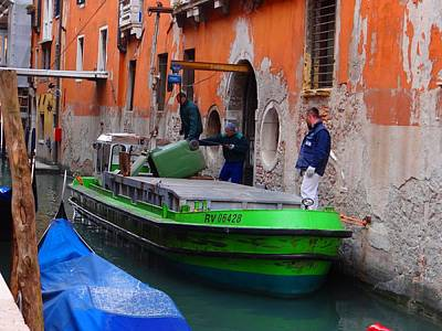 Photograph - Venice Garbage Boat by Keith Stokes