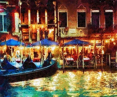Grande Painting - Venice Glow by Mo T