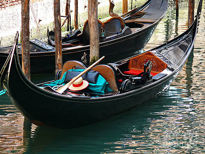 Art Print featuring the photograph Venice Gondola by Jeanne  Woods