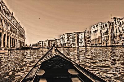 Photograph - Venice Gondola Pov by Matthew Naiden