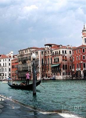 Venice Gondola Art Print by Sandy MacNeil