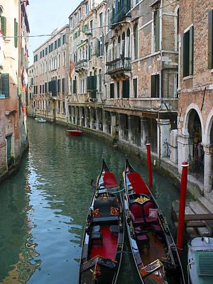 Photograph - Venice Gondolas 2 by Karen Zuk Rosenblatt