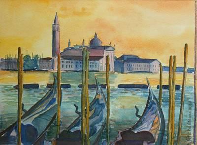 Painting - Venice Gondolas by Geeta Biswas