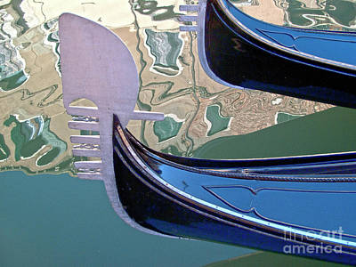 Venedig Photograph - Venice Gondolas by Heiko Koehrer-Wagner