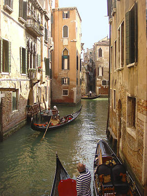 Art Print featuring the photograph Venice Gondolas by Karen Zuk Rosenblatt